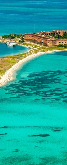 Dry Tortugas National Park is one of the least visited national parks in the United States, with only 60,000 visitors per year. This is primarily due to its remote location 70 miles west of Key West.  It is also the most aquatic of all the US national parks with 98% of the park consisting of water. The 2% of the park which is land is largely taken up by Fort Jefferson.