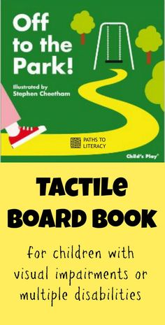 Tactile board book for children with visual impairments or multiple disabilities