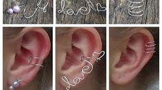 Wirework love ear cuff ⎮ Valentines - YouTube