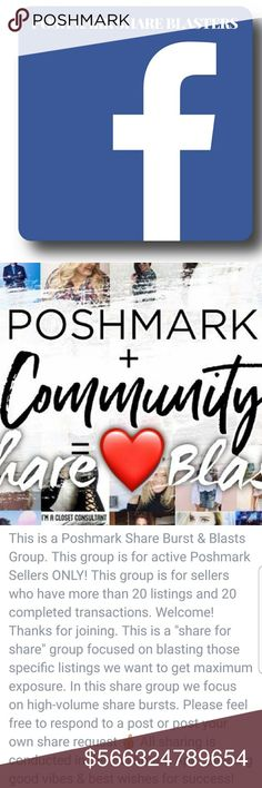 Poshmark Share Blasters Facebook Group Having trouble selling an item? Wanna meet new people? Come join us on Facebook... Accessories