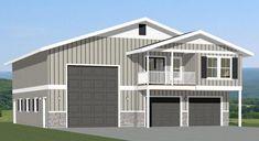 PDF house plans, garage plans, & shed plans. Garage Plans With Loft, Loft Plan, Garage House Plans, Barn House Plans, Shed Plans, Metal Building Homes, Building Plans, Building A House, Building Ideas