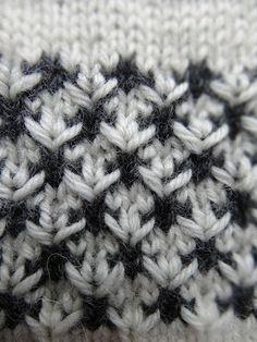 designstrik.dk: Strikkemønster i 2 faver. Free pattern
