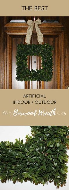 The most realistic artificial Boxwood wreath, that is suitable for outdoor use! It is the perfect home decor item, and also makes a wonderful gift! Ideal for housewarming gifts, Realtor gifts, and hostess gifts! https://champagnecasual.com/product/square-faux-boxwood-wreath/