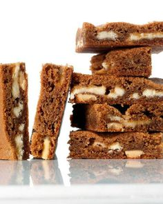 White Chocolate-Gingerbread Blondies Recipe