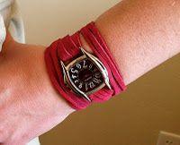 diy leather wrap watch