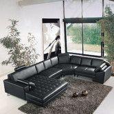 Hokku Designs Vacaville Right Hand Facing Sectional Modular Sectional Sofa, Leather Sectional Sofas, Reclining Sectional, Living Room Sectional, Modern Sectional, Sleeper Sectional, Sofa Design, Interior Design, Sofa Furniture