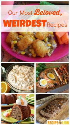 Our Most Beloved, Weirdest Recipes: Casserole Recipes, Meatloaf Recipes and Other Strange Stuff – RecipeChatter – hotwiev Recipe Chatter, Cake Recipes, Dessert Recipes, Funny Cake, Good Food, Yummy Food, Quick Weeknight Meals, Easy Casserole Recipes, Weird Food