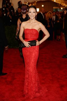 Ziyi Zhang Photos - Ziyi Zhang attends the Costume Institute Gala for the 'PUNK: Chaos to Couture' exhibition at the Metropolitan Museum of Art on May 2013 in New York City. - Red Carpet Arrivals at the Met Gala Christian Dior, Christian Louboutin, Louboutin Shoes, Jessica Chastain, Jessica Alba, Blake Lively, Zuhair Murad, Celebrity Red Carpet, Celebrity Style