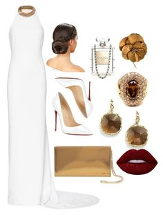 """""""Oscar! #02"""" by lola-loo ❤ liked on Polyvore featuring STELLA McCARTNEY, Christian Louboutin, Jimmy Choo, Roberto Coin, Hermès, Lime Crime and Chanel"""