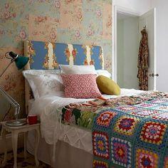 Colorful vintage bedroom. housetohome.co.uk