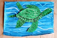 Eric Carle inspired art projects - love the way they make the lines in the water!
