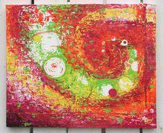 """""""Le temps d'avant""""   Acrylique sur toile 45x55cm - Made in Tahiti"""