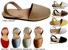 EU SIZE---------CM (FOOT) The smaller sizes are in other ads. Authentic Avarcas Menorquínas, made in Menorca Island, an island of the Closed Toe Summer Shoes, Closed Toe Sandals, Peep Toe Shoes, Flat Espadrille Sandals, Women's Shoes Sandals, Leather Sandals, Espadrilles, Flat Shoes Outfit, Clogs Outfit