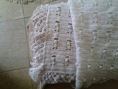 Manta. Modelo no  blog Falando de Crochet da Sonia Maria