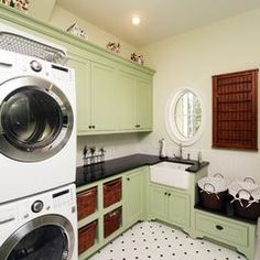 Laundry room by Clausen Residential