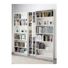 IKEA - BILLY / GNEDBY, Librería, blanco, , Baldas regulables. Adapta el espacio entre las baldas según tus necesidades.
