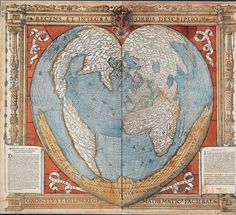 Heart-shaped map of Terra Australisthe unknown land of the SouthRecens et integra orbis descriptio, Oroncio Phineas (1536) Paris, 1536.Woodcut and watercolor BNF  Terra Australis, Terra Australis Ignota, Terra Australis Incognita (The unknown land of the South) or Terra Australis Nondum Cognita (The Southern Land Not Yet Known) was a hypothesized continent appearing on European maps from the 15th to the 18th century. Other names for the continent in