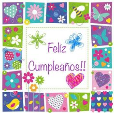 New Birthday Quotes For Her In Spanish Ideas Birthday Wishes For Kids, Birthday Quotes For Her, Funny Happy Birthday Pictures, Birthday Pins, Birthday Frames, Birthday Wishes Cards, Birthday Messages, Birthday Greetings, Birthday Invitations