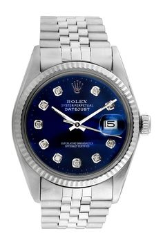 716ed302a789 Vintage Rolex Men s 36mm Stainless Steel Diamond Datejust Watch on   HauteLook Rolex Vintage