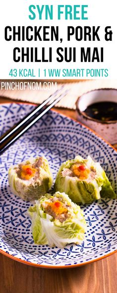 Chicken and Pork, Chilli Sui Mai - Pinch Of Nom Healthy Food, Healthy Eating, Healthy Recipes, Pinch Of Nom, Stuffed Pasta Shells, Syn Free, Slimming World Recipes, Appetisers, Dim Sum