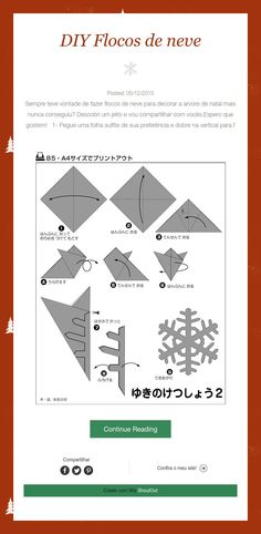 DIY Flocos de neve