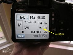 Photography Tips – Better Composition and Lighting Tips- In the Canon Rebel (and most SLR cameras), you can choose the lighting source like this