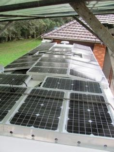 Installing Solar Panels on our RV - Robbiebago RV Caravan Trailer Adventures: Solar Energy Panels, Best Solar Panels, Solar Roof, Solar Projects, Solar House, Solar Panel Installation, Solar Charger, Camping, Diy Solar