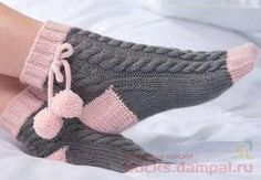 Free Knitting Pattern And Class For Easy - maallure Baby Hats Knitting, Knitting Socks, Free Knitting, Knitted Slippers, Crochet Slippers, Mode Crochet, Knit Crochet, Laine Rowan, Knitting Designs