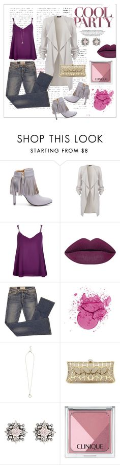"""""""Cool Party"""" by designed-4-life ❤ liked on Polyvore featuring River Island, Elizabeth and James, DANNIJO, Clinique, fashionset, polyvorefashion and designed4life"""