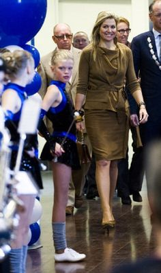 Princess Maxima of The Netherlands visits Show Band on 23 April 2013 in Hoorn