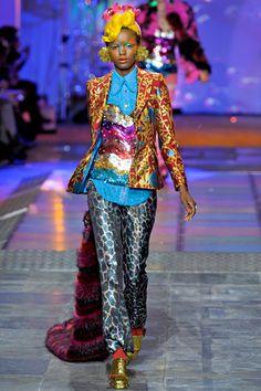 Meadham Kirchhoff Fall 2012 - Fun full color flashy and sleek!