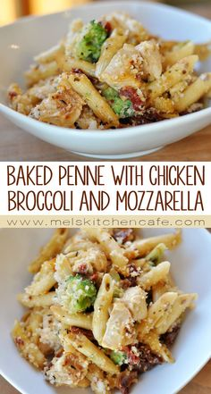 This baked penne with chicken, broccoli and smoked mozzarella casserole is uh-mazing. It is the perfect take-in meal and freezes beautifully. Pasta Dishes, Food Dishes, Cooking Recipes, Healthy Recipes, Easy Dinner Recipes, Easy Penne Pasta Recipes, Dinner Ideas, I Love Food, Chicken Recipes