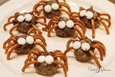 easy buckeye peanut butter spider candies |  CherylStyle.com