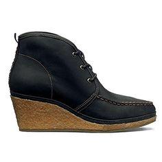 b4720dc173 OluKai Wali Wedge Leather Shoe - Women s Black   Tan 11 O... https
