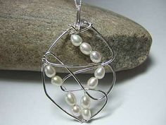 pearl jewellery pearl is the birthstone for June birthdays http://www.silverwiredesigns.com