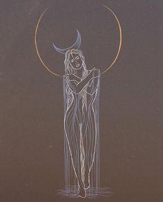 Arte Latina, Goddess Art, Moon Art, Aesthetic Art, Art Images, Art Inspo, Collage Art, Art Reference, Art Boards