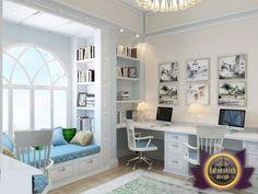 Desk area (add cabinets above)