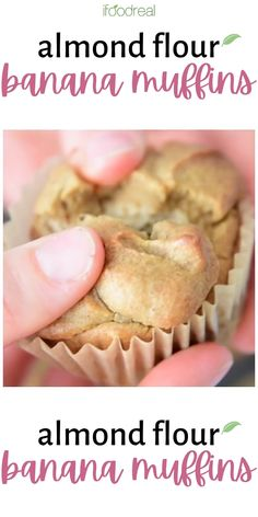Almond Flour Banana Muffins are easy, low carb, gluten and sugar free! These muffins are the best for kid snacks and are healthy enough for breakfast. So good they melt in your mouth! Healthy Breakfast Muffins, Healthy Muffin Recipes, Meal Recipes, Breakfast For Kids, Eat Healthy, Free Recipes, Almond Flour Muffins, Almond Flour Recipes, Gluten Free Muffins