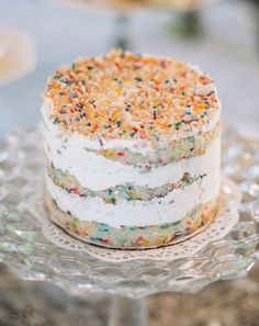 Funfetti Naked Cake By Momou Milk Bar