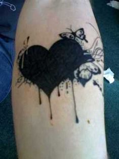 Black heart....it's like an E. A. Poe style tattoo...love it.