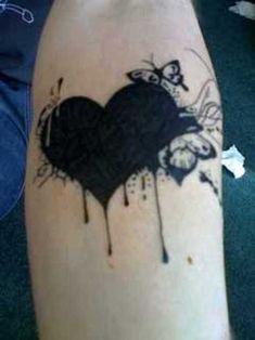 Black heart....it's like an E. A. Poe style tattoo...love it.