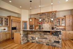 Parker New Home Construction – Medallion Cabinetry: Taos door style, Burnished Hazelnut on Knotty Alder