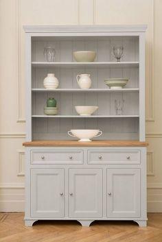 White Kitchen Dresser free standing painted kitchen dressers & kitchen larders | for the
