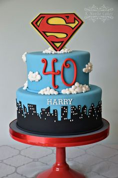 Superman cake for adults Sweet treats by Ortal Pinterest