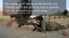 Women fighting ISIS