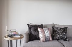Our Mermaid cushion in Silver & Rose gold sequin // a cushion that is reversible and can be in either colour way! Paired with our darker scatter cushions to complement. #interiordesign #scattercushions #cushionsonline #interiordecoration #wholesale #issiemae #beautiful #picoftheday #instamood #love #interiors #cushions #design #inspiration #homewares #design #stylist #feature #statementpiece #pattern #ontrend #naturals #tribal