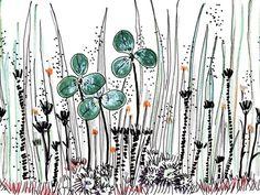 Carta da parati in tessuto non tessuto con motivi floreali GOUACHE Collezione Life! 14 by Wall