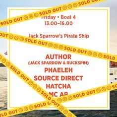 Friday Boat 4 - Jack Sparrow's Pirate Ship *Sold Out*