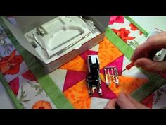 ▶ Bernina Walking Foot Stitch in the Ditch foot accessory - YouTube