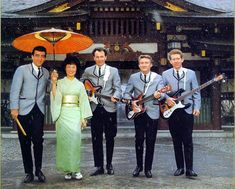 The Ventures. I love that they're in the snow in Japan. Johnny And The Hurricanes, Space Suit Costume, Snow In Japan, Rock N Roll, 1940s Music, Don Wilson, Duane Eddy, Bobby Vinton, The Ventures